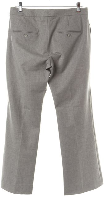 THEORY Gray Wool Blend Four Pocket Wide Leg Flare Dress Pants