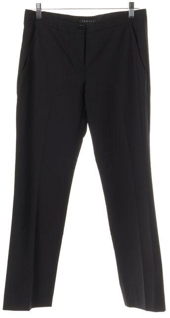 THEORY Black Wool Blend Four Pocket Straight Leg Dress Pants