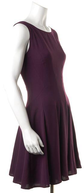 THEORY Plum Purple A-Line Dress