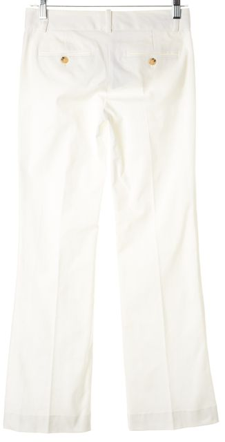 THEORY White Wide Leg Cotton Bootcut Casual Pants