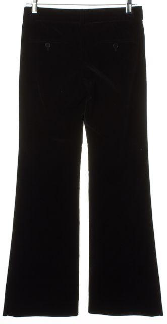 THEORY Solid Black Velvet Trouser Pants