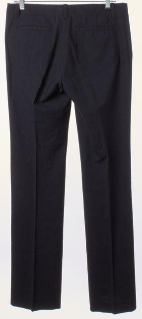 THEORY Dark Navy Blue Wool Flared Leg Trousers Pants