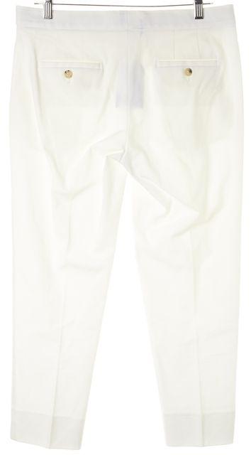 THEORY White Cotton Four Pocket Capris, Cropped Pants