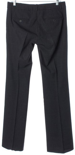 THEORY Dark Gray Wool Blend Wide Leg Dress Pants