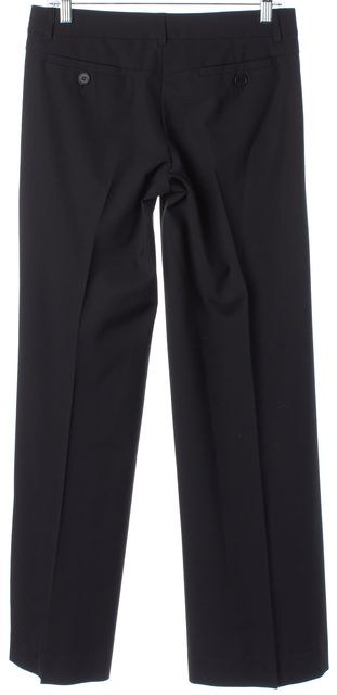 THEORY Solid Black Pleated Wool Trousers Pants