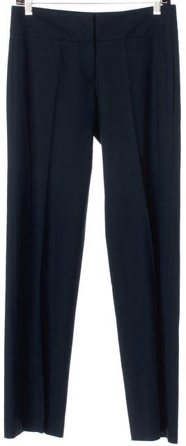 THEORY Dark Navy Wool Blend Pleated Dress Pants