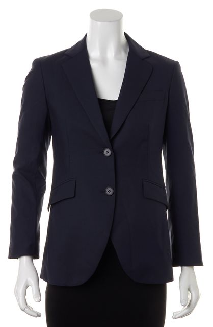 THEORY Navy Blue Tailor Wool Two Button Rex Blazer