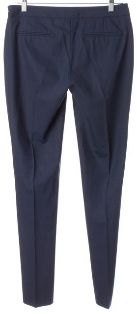 THEORY Blue Wool Pleated Trouser Dress Pants