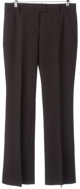 THEORY Brown Pleated Trouser Dress Pants
