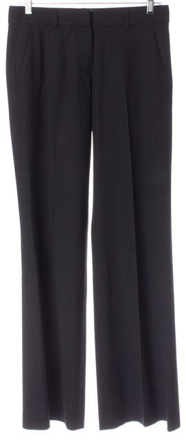 THEORY Black Wool Pleated Trouser Dress Pants