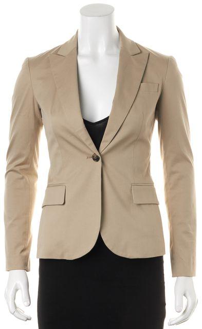 THEORY Beige Stretch Cotton Single Button Gabe B Blazer Jacket