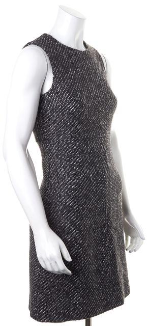 THEORY Black White Boucle Wool Sleeveless Raneid NC Sheath Dress