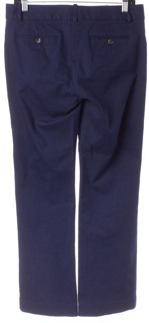 THEORY Blue Stretch Cotton Trouser Dress Pants