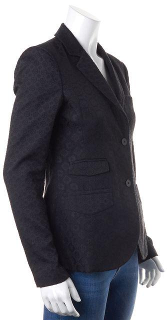 THEORY Black Brocade Two Button Parmenia C Blazer Jacket
