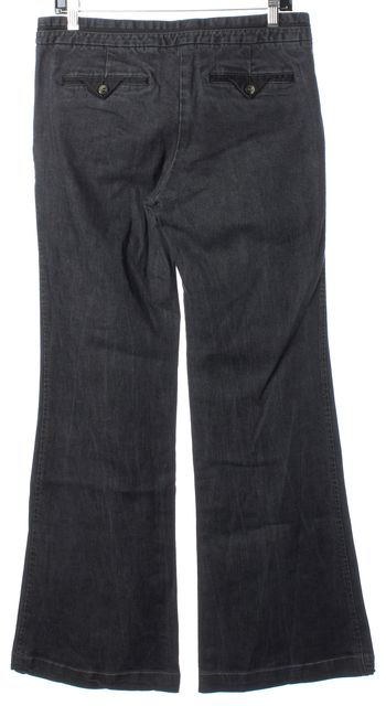 THEORY Gray Wash Wide Leg Boot Cut Jeans