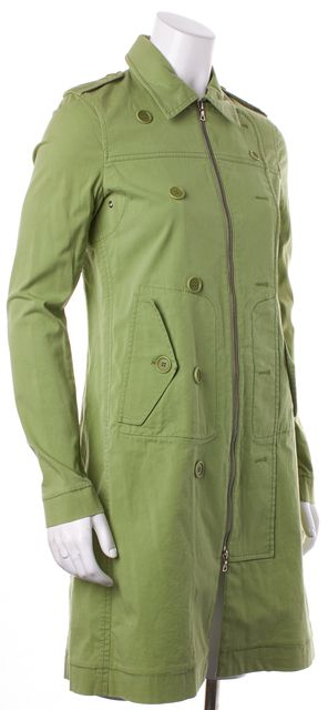 THEORY Lime Green Caufield Zip Up Button Design Jacket
