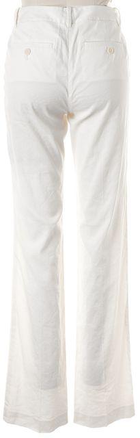 THEORY Ivory Linen Emery 2 Trouser Dress Pants
