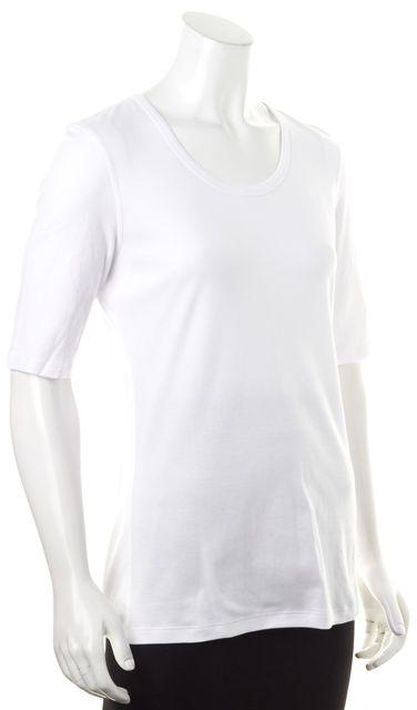 THEORY Plain White Junia Short Sleeve T-Shirt