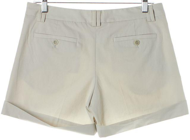 THEORY Gray Pinstripe Cuffed Casual Shorts