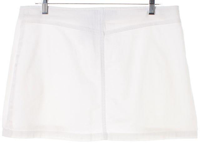 THEORY White Zipped Cotton Pencil A-Line