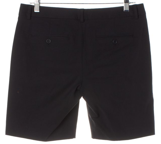 THEORY Black Cotton Blend Casual Shorts