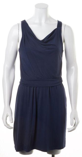 THEORY Dark Navy Blue Jaysa K Sulla Sleeveless Stretch Dress