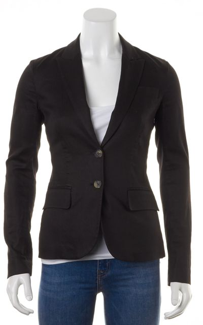 THEORY Black Fitted Two Button Blazer Jacket