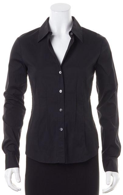 THEORY Black Button Down Shirt