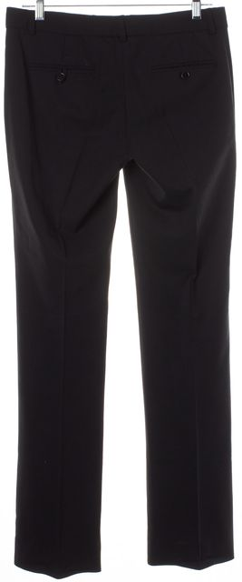 THEORY Solid Black Wool Pleated Dress Pants