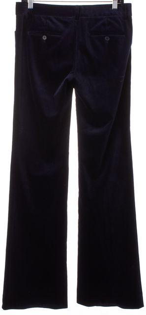 THEORY Navy Blue Velvet Flared Leg Trousers Dress Pants