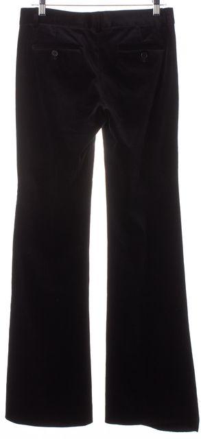 THEORY Black Velvet Flared Leg Trousers Dress Pants