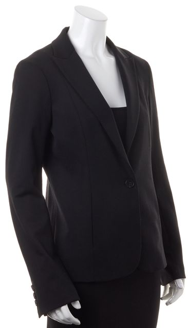 THEORY Black Wool One Button Blazer