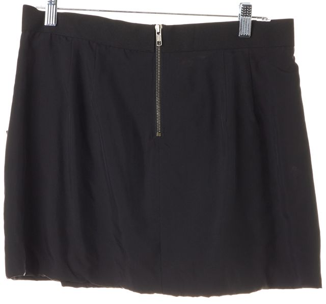 THEORY Black Silk Mini Skirt
