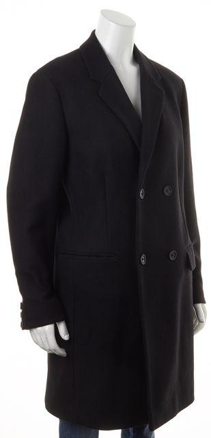 THEORY Black Wool Double Breasted Barkley Apollo Peacoat