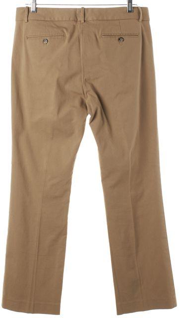 THEORY Tan Beige Cotton Trouser Pants