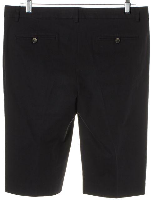 THEORY Black Stretch Cotton Bermuda Shorts