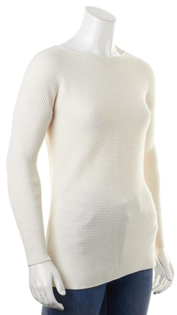 THEORY Ivory Cotton Cashmere Lorinna Crewneck Sweater
