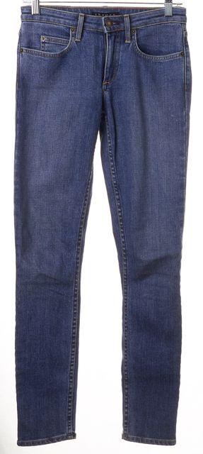 THEORY Blue Medium Wash Stretch Cotton Denim Billyva Skinny Jeans