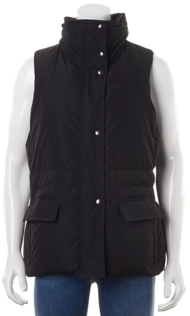 THEORY Black Wintora Technical Down Vest Jacket