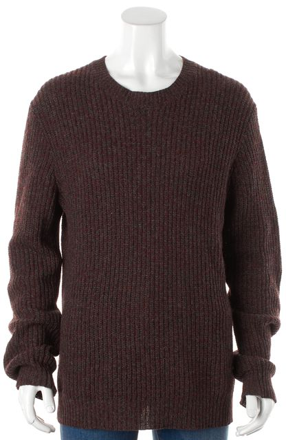 THEORY Maroon Red Gaspar Truscan Camel Hair Crewneck Sweater