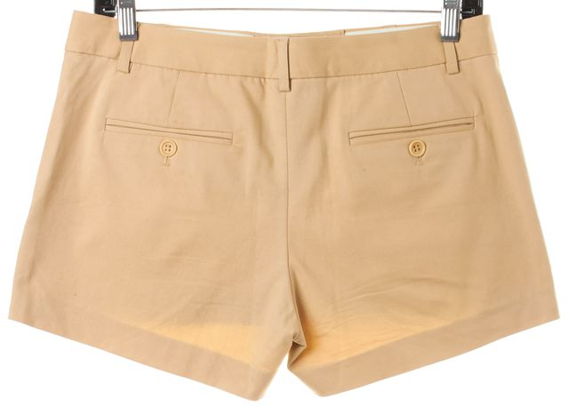 THEORY Tan Beige Stretch Cotton Dress Shorts