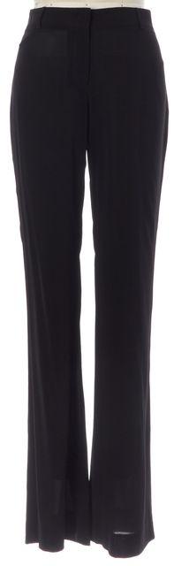 THEORY Black Semi-Sheer Bootcut Trousers Dress Pants