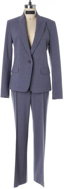 THEORY Blue Urban One Button Gabe 2 Blazer Max 2 Pant Suit Set
