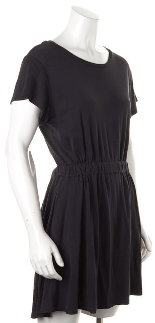 THEYSKENS' THEORY Black Cutout Back Fiola Blouson Dress