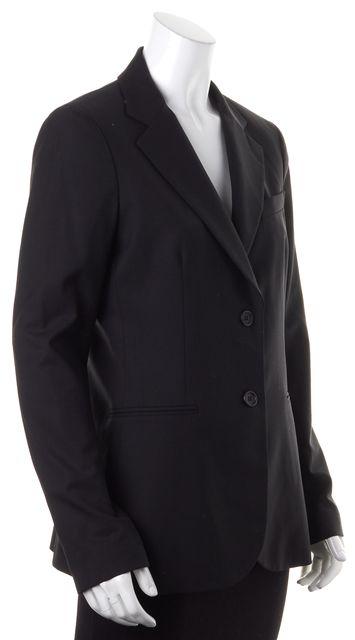 THEORY Black Wool Two Button Blazer Jacket