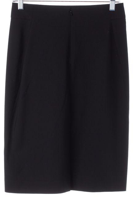 THEORY Black Wool Above Knee Straight Skirt
