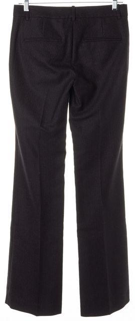 THEORY Black Red Striped Wool Ashleen Trouser Dress Pants