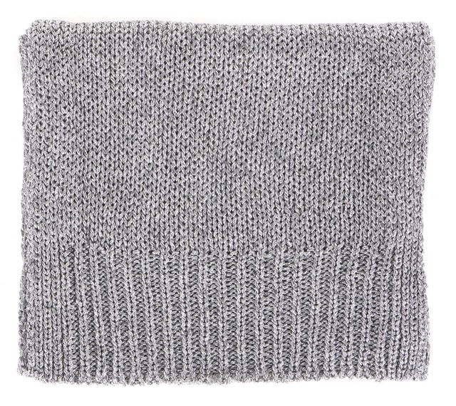 THEORY Metallic Silver Knit Starr Zebra Long Scarf
