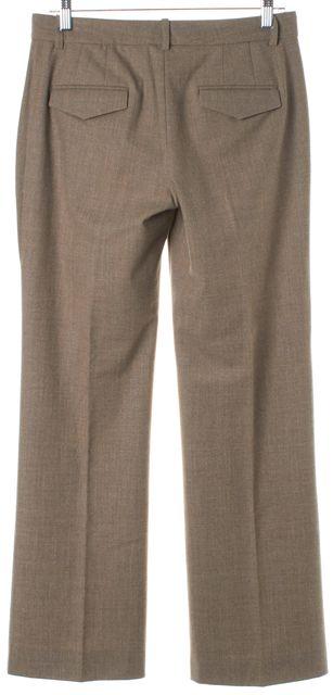 THEORY Beige Wool Pleated Trouser Dress Pants