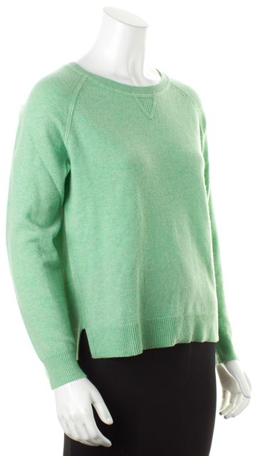 THEORY Mint Green Cashmere Knit Long Sleeve Abner Crewneck Sweater